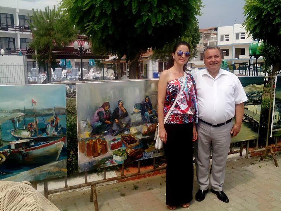 Ангелина Недин Изложба Истамбул 2016