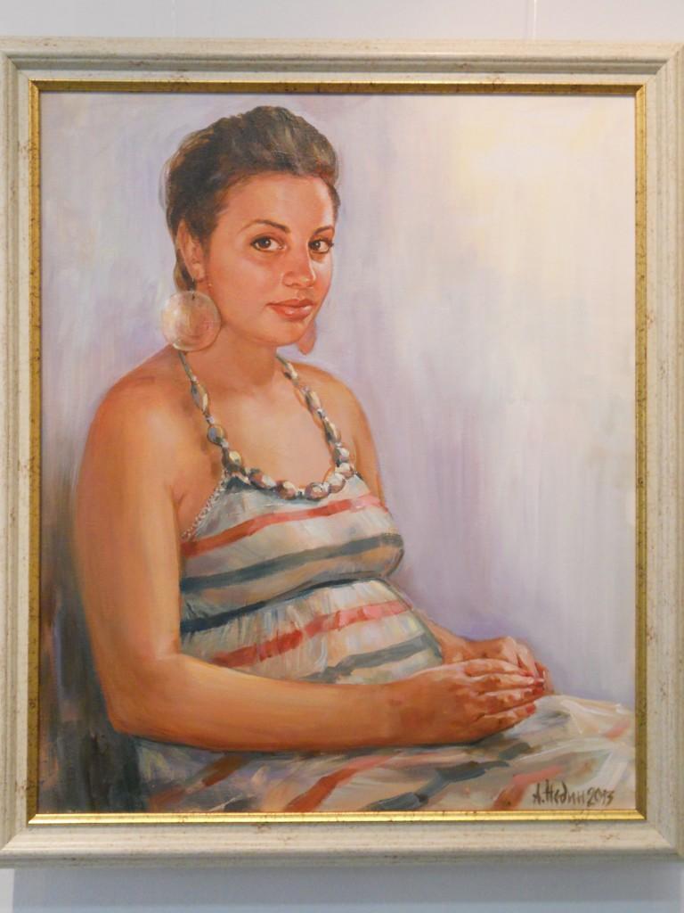 Портрет на Жена ,Живопис,Масло,Ангелина Недин 2013