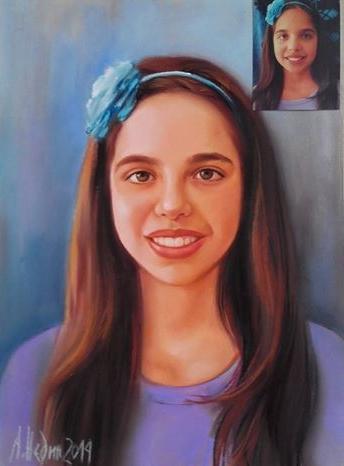 портрет на момиче по снимка Ангелина Недин