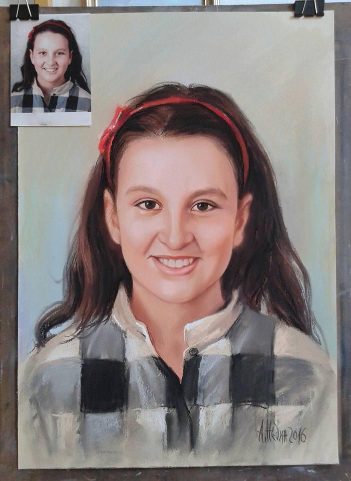 Портрет по Снимка Сух Пастел Ангелина Недин
