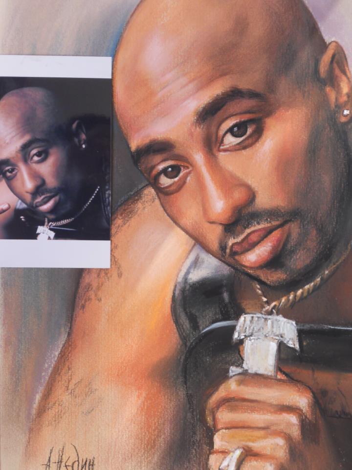 портрет по снимка на мъж сух пастел Ангелина Недин