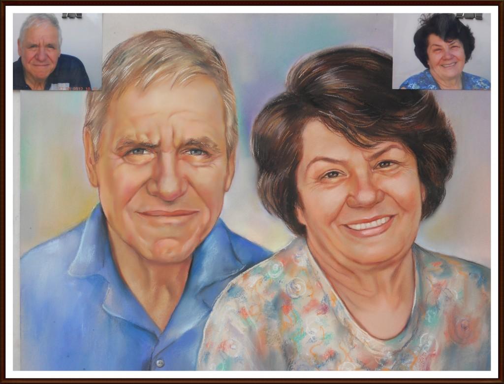 Семеен Портрет рисуван По Снимка