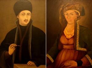 Захарий Зограф Автопортрет и Портрет На Братовата му жена