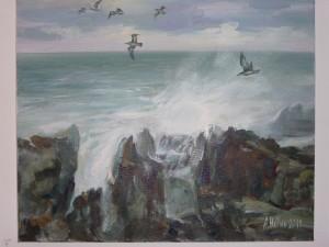 Морска Буря ,Ангелина Недин,маслена живопис