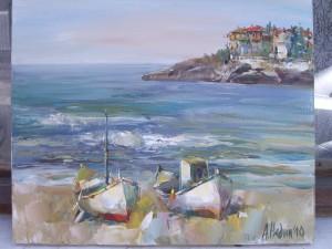 Две лодки-Морски Пейзаж ,Ангелина Недин