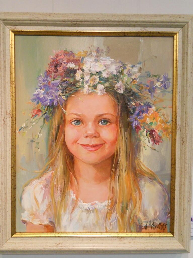 портрет маслени бои ,живопис ,Ангелина Недин